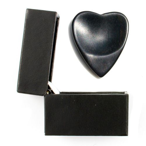 Heart Tones African Ebony Guitar Pick in a Gift Box